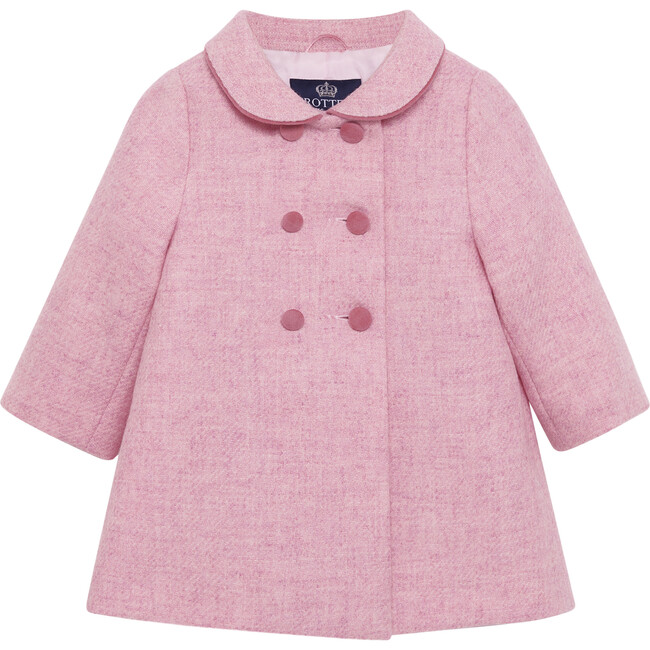 Baby Classic Coat, Pale Pink