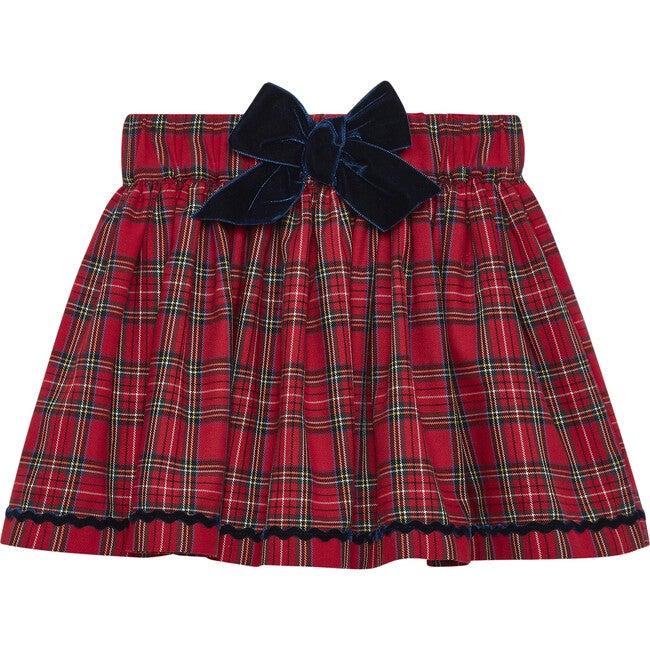 Tartan Bow Skirt, Red Tartan