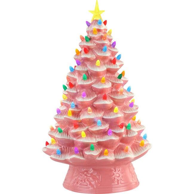 "18"" Nostalgic Christmas Tree, Pink"