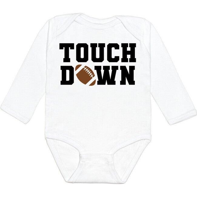 Touchdown L/S Bodysuit, White - Shirts - 1