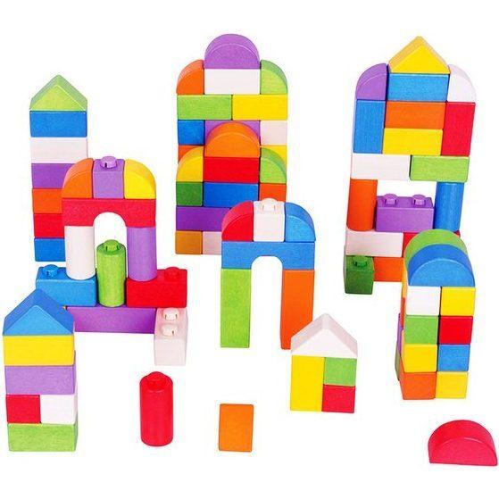 100 Piece Click Blocks, Multi - Woodens - 1