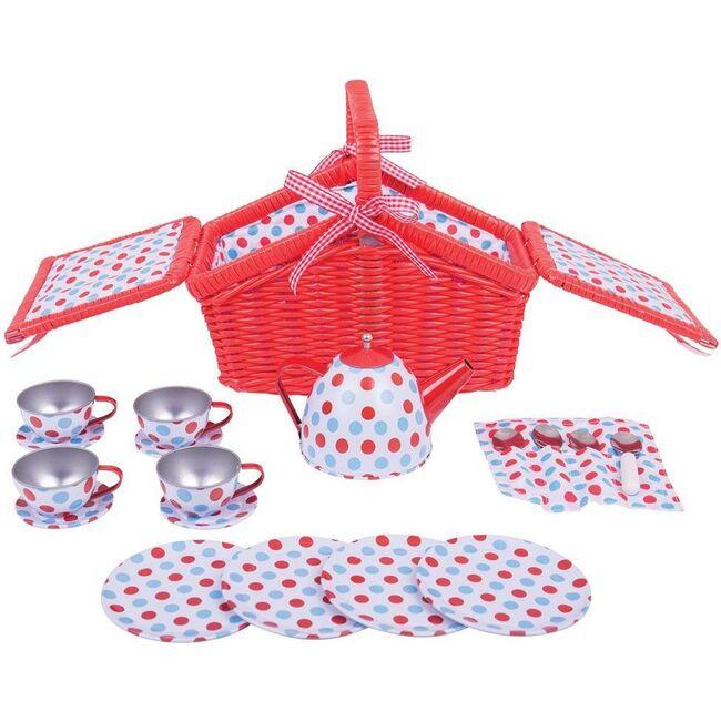Polka Dot Basket Tea Set