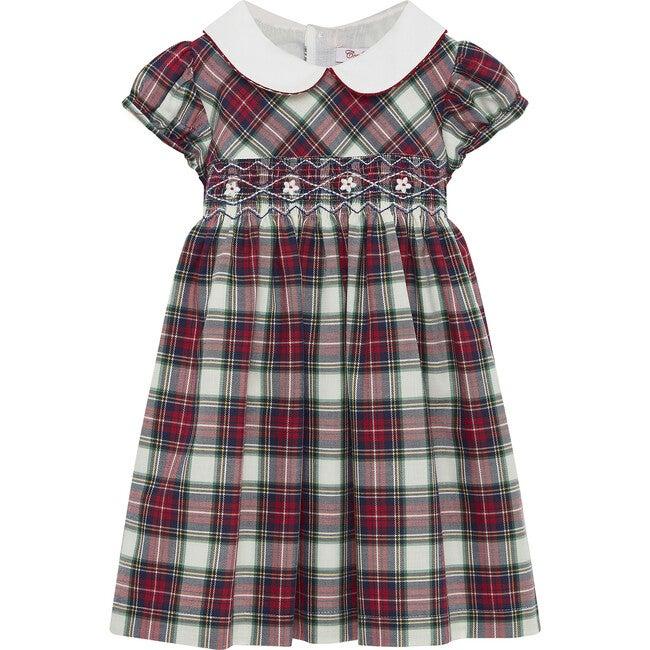 Charlotte Smocked Dress Short Sleeve, Navy