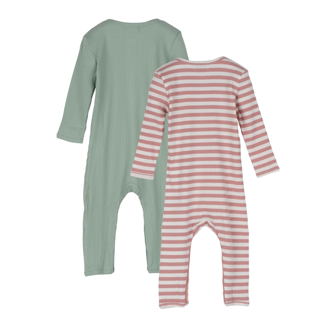 Baby Lewis Coverall Duo, Sage Multi
