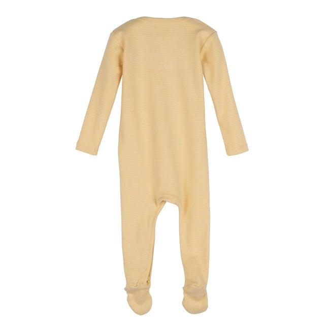 Sawyer Zip Footie Pajama, Yellow Stripe