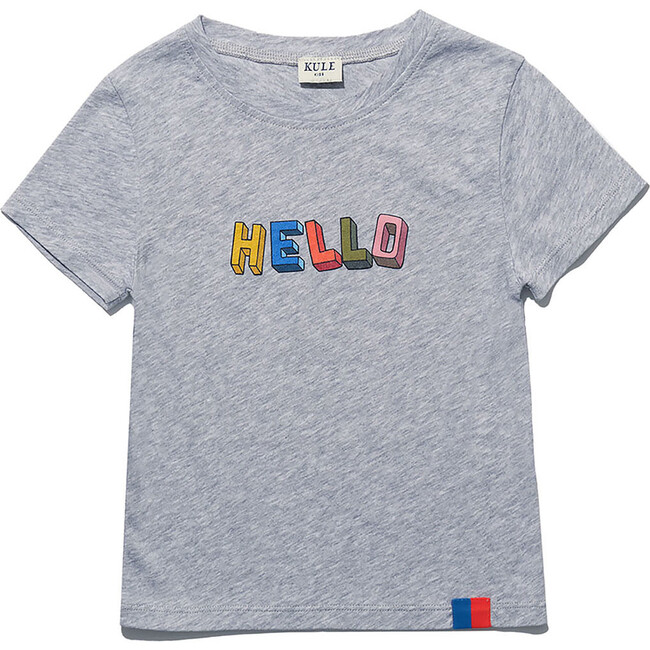 The Kid's Charley HELLO, Heather Grey - Shirts - 1