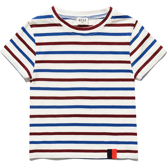 The Kid's Charley, Cream/Wine/True Blue - Shirts - 1