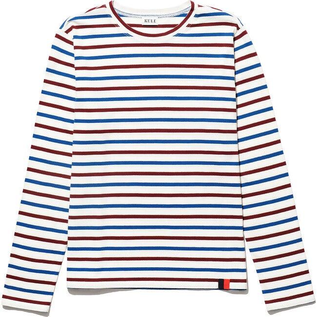 The Women's Modern Long, Cream/Wine/True Blue - Shirts - 1