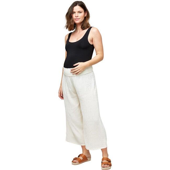 Women's Elliott Cotton Gauze Pant, Cream