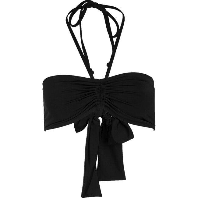 Women's Iro String Bandeau Bikini Top, Black