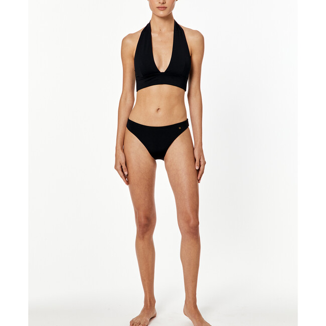 Women's Rhodes Classic Bikini Bottom, Black/Mocha