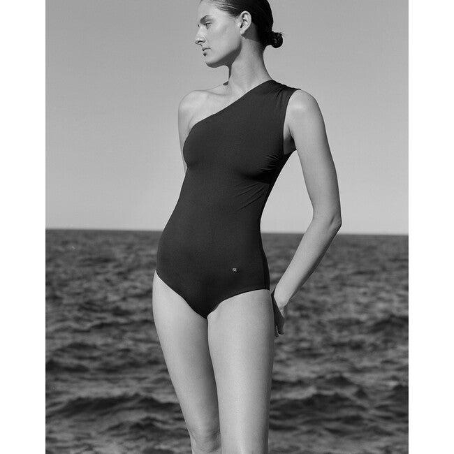 Women's Amara Reversible Asymmetrical One Piece, Black/Mocha