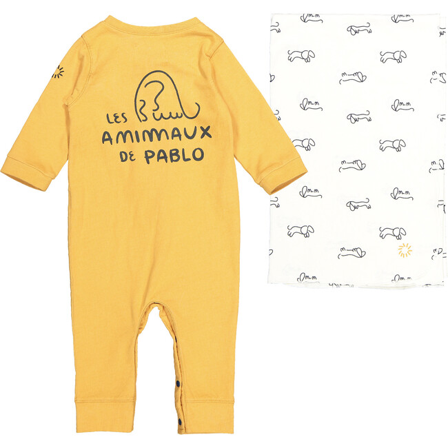 Picasso Playsuit and Blanket, Yellow
