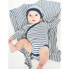 Reversible Breton Beanie and Blanket, Navy and Cream - Mixed Accessories Set - 2