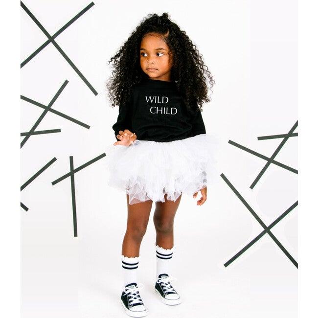 Wild Child Embroidered Pullover, Black