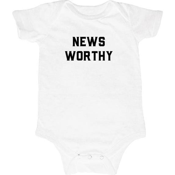 Newsworthy Bodysuit, White