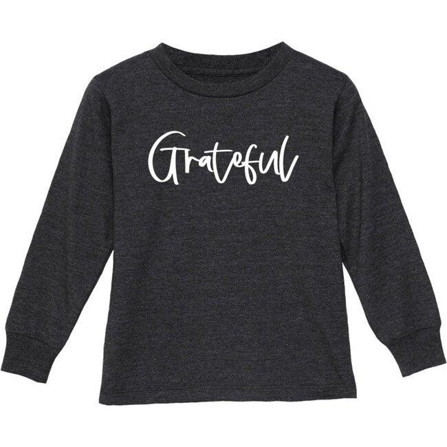 Grateful Long Sleeve Shirt, Charcoal