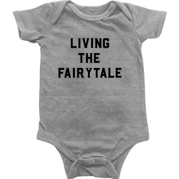 Living the Fairytale Bodysuit Light Grey