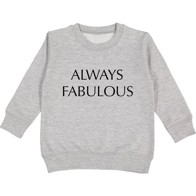 Always Fabulous Embroidered Pullover, Light Grey