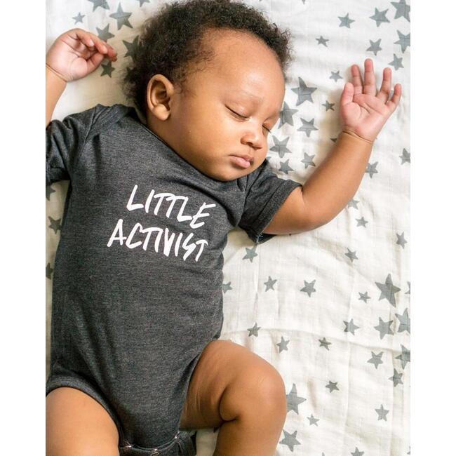 Little Activist Bodysuit, Charcoal