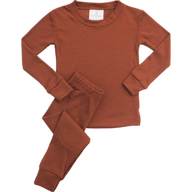 Rib Merino Wool Long Johns, Spice
