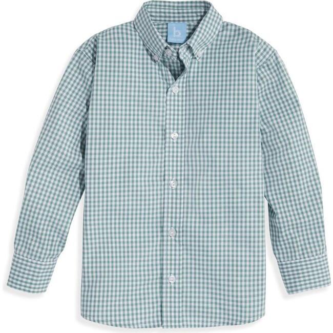 Buttondown Shirt, Teal Check
