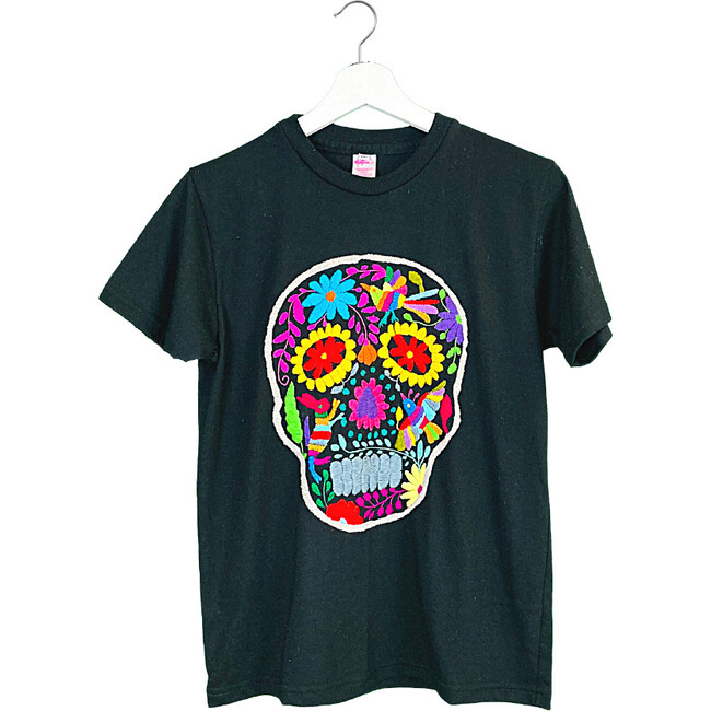 Otomi Skull T-Shirt, Black - Tees - 1