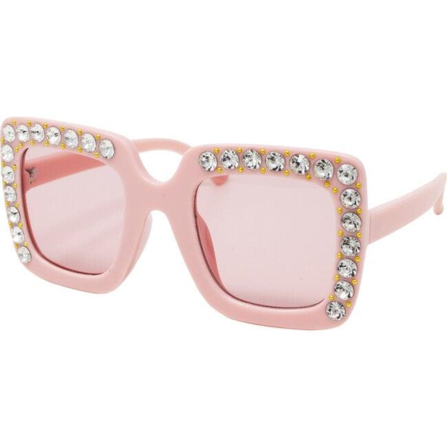 Pink Sqaure Crsytal Sunglasses