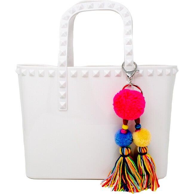 Tiny Jelly Tote Bag, White
