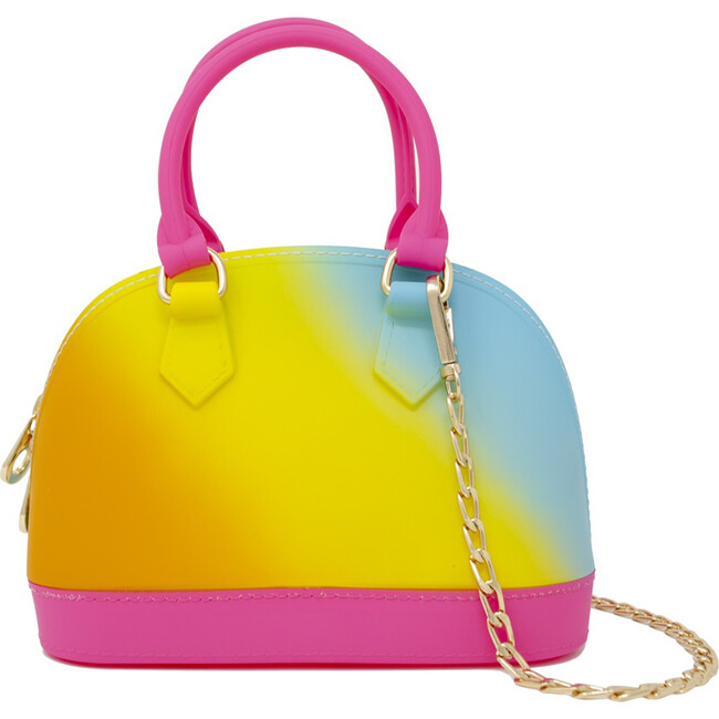 Tie Dye Jelly Bowling Crossbody Bag, Pink