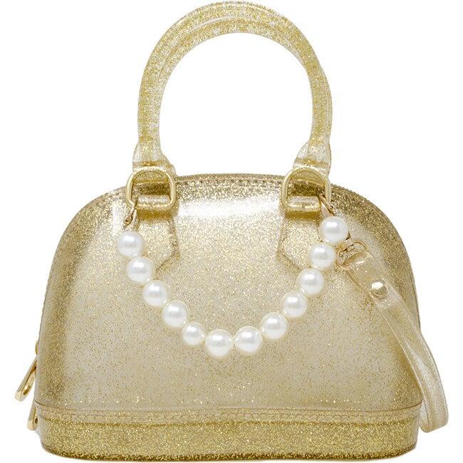 Jelly Bowling Crossbody Handbag, Gold