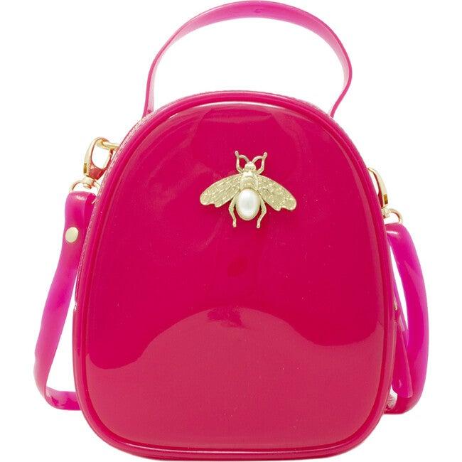 Jelly Bee Crossbody Handbag, Hot Pink