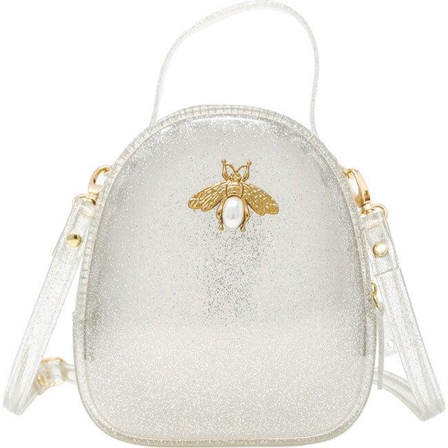Jelly Bee Crossbody Handbag, Silver