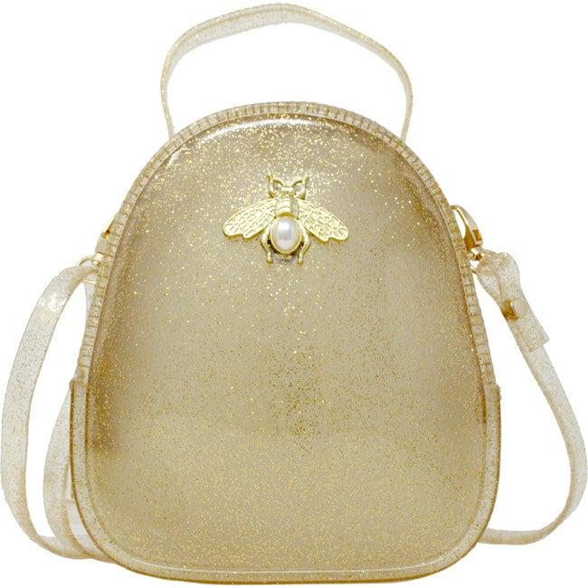 Jelly Bee Crossbody Handbag, Gold - Bags - 1