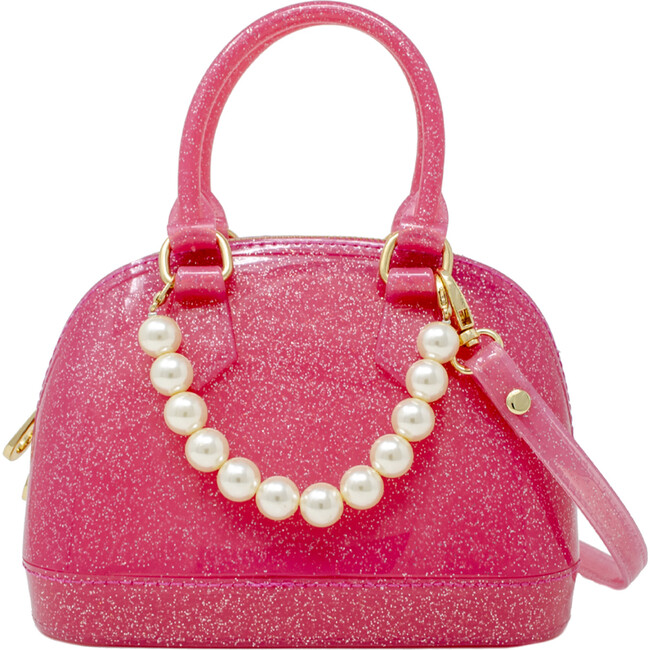 Jelly Bowling Crossbody Handbag, Hot Pink