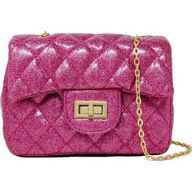 Classic Sparkle Handbag, Hot Pink