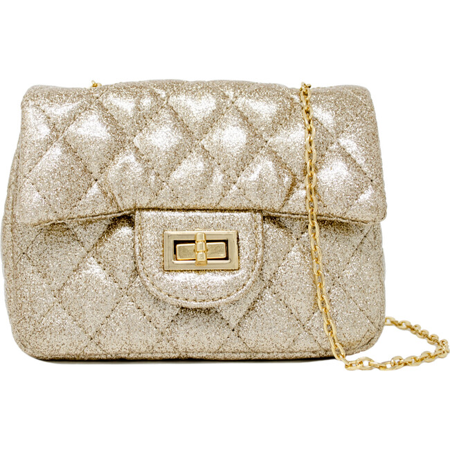 Classic Sparkle Handbag, Gold