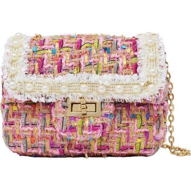 Classic Tweed Handbag, Pink