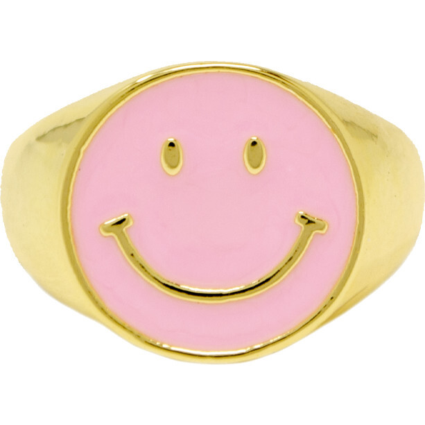 Happy Face Ring, Pink