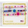 Happy Face Disk Bead Bracelet Set - Bracelets - 5
