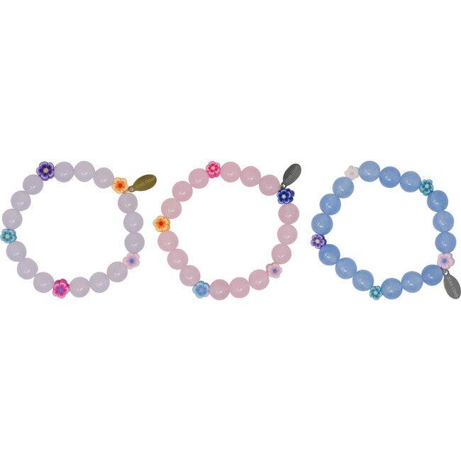 Flower Bead Bracelet Set