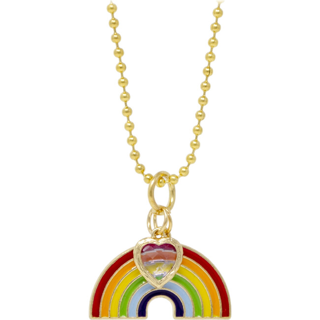 Rainbow and Heart Necklace