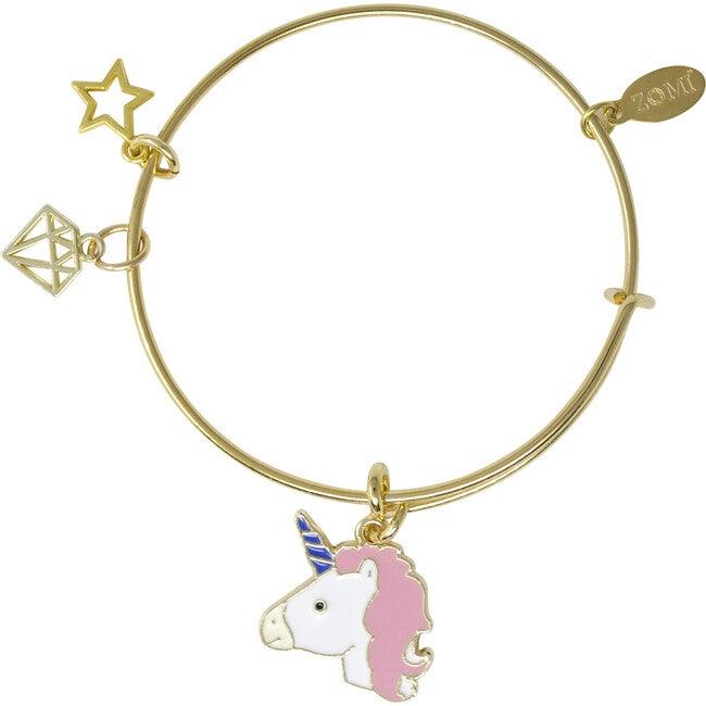 Unicorn and Gem Bangle Bracelet
