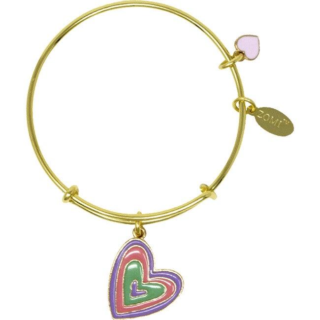Four Hearts Bangle Bracelet