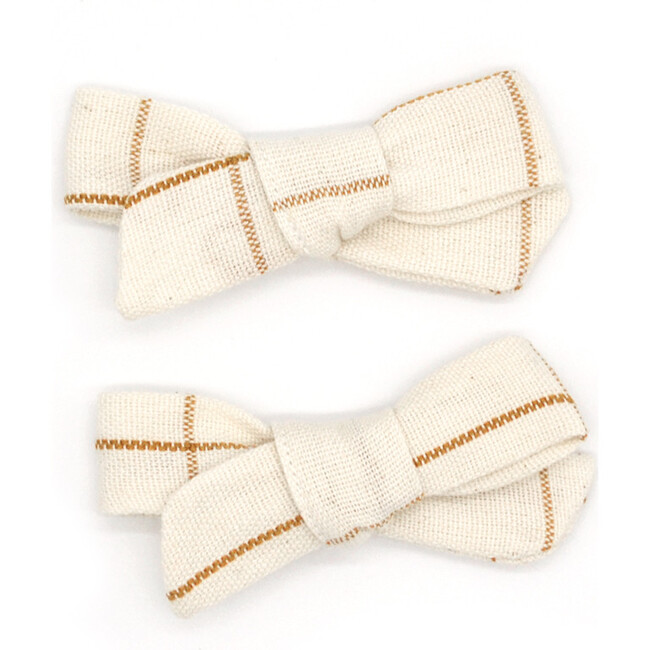 Folklore Small Bow Set Almond