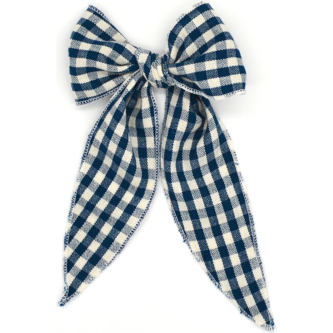 Folklore Large Bow, Cobalt Check