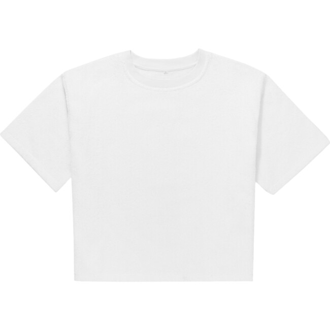 Adult Terry Towel Tee, Fluff White