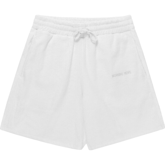 Adult Terry Towel Short, Fluff White