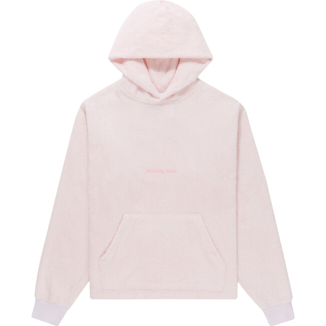 Adult Terry Towel Hooded Sweatshirt, Marshmallow Pink