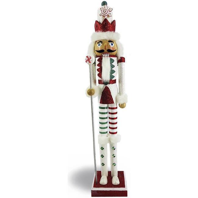Candy Cane Nutcracker, Red/White Stripe - Nutcrackers - 1